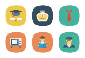 Education Flat Square Icons Vol 2