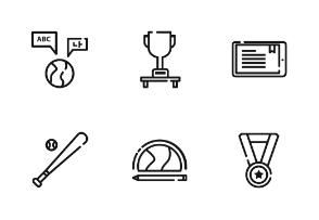 Education Outline Iconset