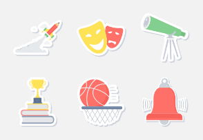 Education sticker icons Part-1
