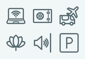 ELASTO Apartment rental service and Hotel Flat & Outline icons