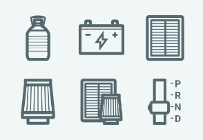 ELASTO Car and auto parts Flat & Outline icons