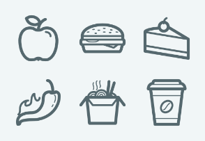 ELASTO Fast food Flat & Outline icons
