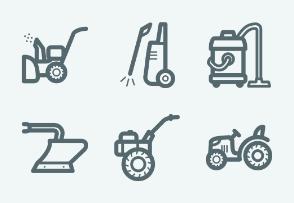 ELASTO Garden tools Flat & Outline icons