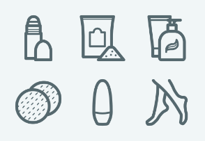 ELASTO Hygiene, beauty and personal care products Flat & Outline icons