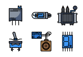 Electronics Components Filloutline