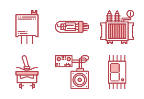 Electronics Components Red