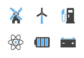 Energy & Technology (Blue & Black)