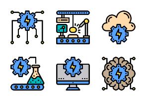 Factory Equipment Color Line