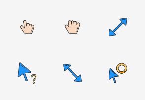 Fancy Css Cursors - Colored