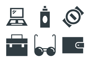 Fashion and Clothes Glyphs 1