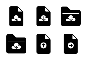 File and Folder - Glyph