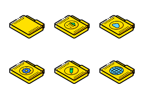 Files And Folders ISO - Yellow 1