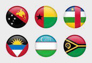 Flags circle