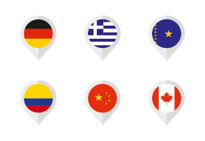 Flags of the World Set#1