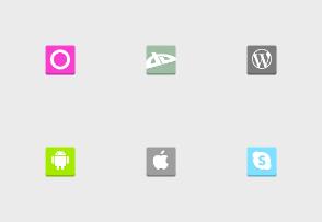 Flat 3D Social Media