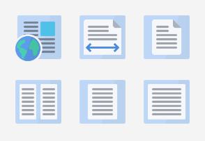 Flat Design - Word processing set 4