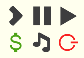 Flat icons for web and app