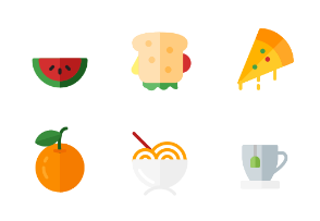 Food and Drink Round Flat
