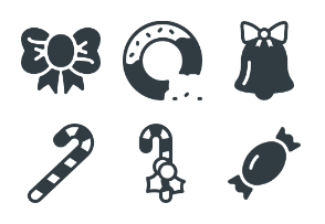 Free Glyph Christmas Icons