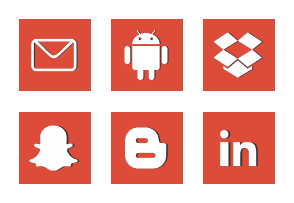 Free Red Social Media Icons