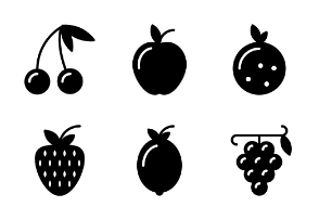 Fresh fruit glyph