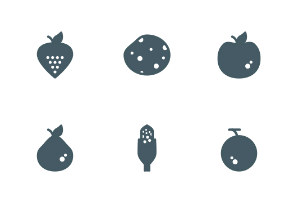 Fruit and Vegetables (Gylph)