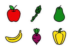 Fruits And vegetable - Filled Outline