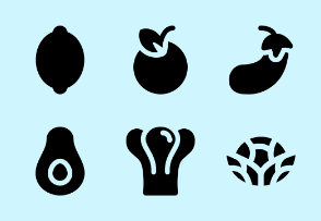 Fruits and Vegetables ( Glyph )