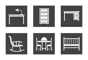 Furniture Glyph Inverted