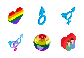 Gay pride - isometric