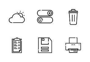 General Outline Iconset