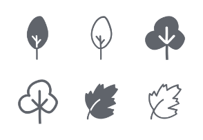 Glyph plants and trees