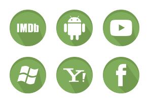 Green Social Media icons