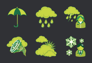 Green Weather Cartoons