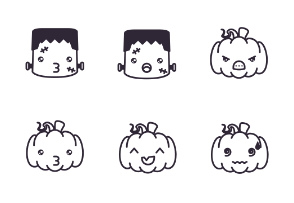 Halloween emojis mega pack