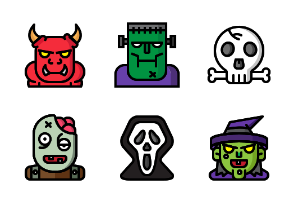 Halloween Monster Filled