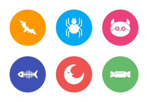 Halloween White (with Multicolor Circle Background)