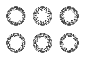 Hand drawn Circle Wreaths