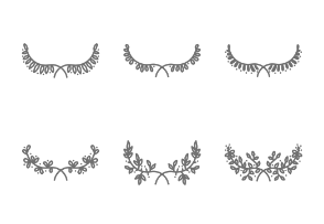 Hand drawn Floral Wreaths and Laurels