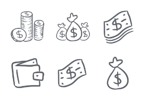 Hand Drawn Money and Finance