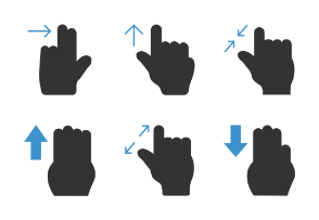 Hand Gesture  Double Colour Blue Black vol 2