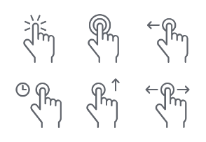 Hand Gesture Icons set 1