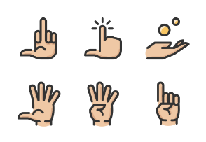Hand Gestures Color 3