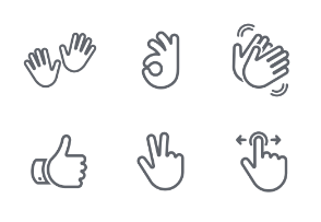 Hand Gestures Outlined