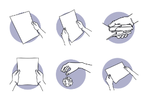 Hand Holding A4 Paper