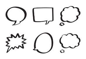 Handdrawn Speech & Thought Bubbles