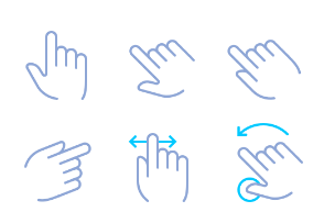 Hands & gestures (simple color)