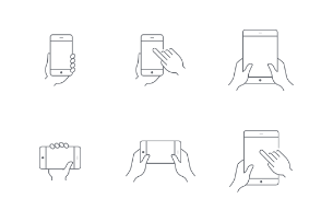 hands holding smartphone and tablet