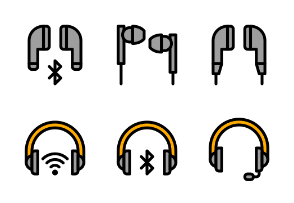 Headphones set