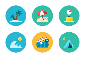 Holidays icons - Rounded